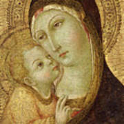 Madonna And Child Print by Ansano di Pietro di Mencio