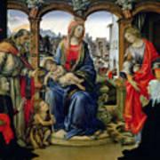 Madonna And Child Print by Filippino Lippi