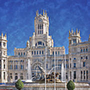 Madrid City Hall Print by Joan Carroll