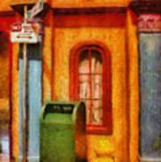 Mailman - No Parking Print by Mike Savad