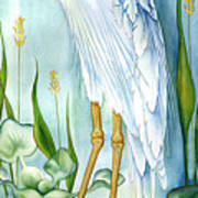 Majestic White Heron Print by Lyse Anthony