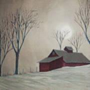 Majestic Winter Night Print by Charlotte Blanchard