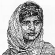 Malala Yousafzai Print by Michael  Volpicelli