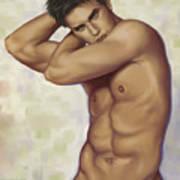 Male Nude 1 Print by Simon Sturge