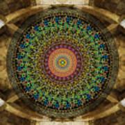 Mandala Armenian Alphabet Print by Bedros Awak
