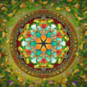 Mandala Evergreen Print by Bedros Awak