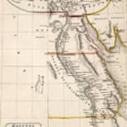 Map Of Aegyptus Antiqua Print by Sydney Hall