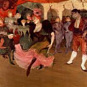 Marcelle Lender Dancing The Bolero In Chilperic Print by Henri de Toulouse Lautrec