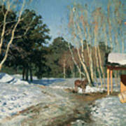 March Print by Isaak Ilyich Levitan