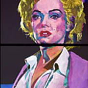 Marilyn Monroe Dyptich Print by David Lloyd Glover
