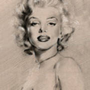 Marilyn Monroe Print by Ylli Haruni