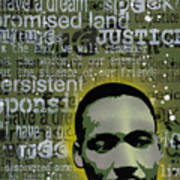 Martin Luther King Print by Tai Taeoalii
