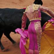 Matador And Bull Print by Carl Purcell