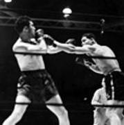 Max Schmeling Fights Joe Louis Print by Everett