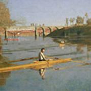 Max Schmitt In A Single Scull Print by Thomas Cowperthwait Eakins