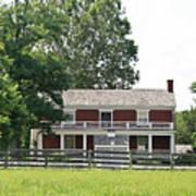 Mclean House Appomattox Court House Virginia Print by Teresa Mucha