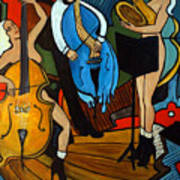 Melting Jazz Print by Valerie Vescovi