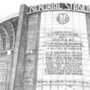 Memorial Stadium Print by Juliana Dube