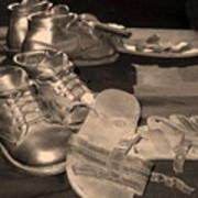 Memories Of Little Feet Print by Sandy Poore