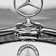 Mercedes Benz Hood Ornament 2 Print by Jill Reger