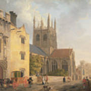 Merton College - Oxford Print by Michael Rooker
