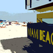 Miami Beach Work Number 1 Print by David Lee Thompson