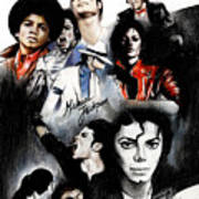 Michael Jackson - King Of Pop Print by Lin Petershagen