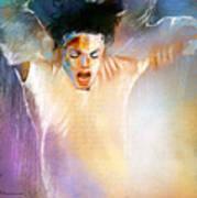 Michael Jackson 09 Print by Miki De Goodaboom
