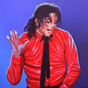 Michael Jackson 2 Print by Paul Meijering