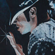 Michael Jackson Print by Mikayla Ziegler
