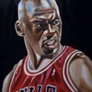 Michael Jordan Print by Mikayla Ziegler