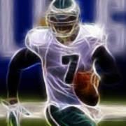 Michael Vick - Philadelphia Eagles Quarterback Print by Paul Ward
