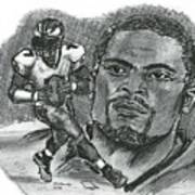 Michael Vick Print by Chris  DelVecchio