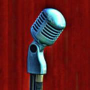 Microphone Print by Jill Battaglia