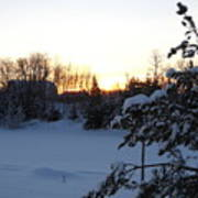 Mid January Winter Sunrise Print by Kent Lorentzen