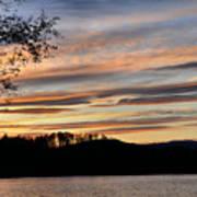 Mill Creek Lake Sun Set Print by Todd Hostetter