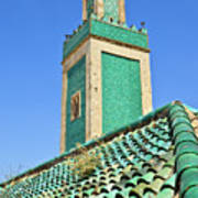 Minaret Of Grand Mosque Print by Kelly Cheng Travel Photography