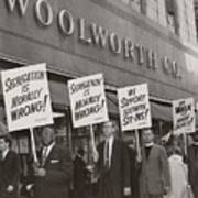 Ministers Picket F.w. Woolworth Store Print by Everett
