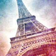 Modern-art Eiffel Tower 21 Print by Melanie Viola