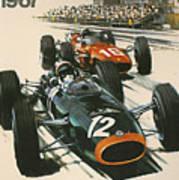 Monaco Grand Prix 1967 Print by Georgia Fowler