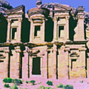Monastery At Petra Print by Dominic Piperata