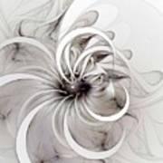 Monochrome Flower Print by Amanda Moore