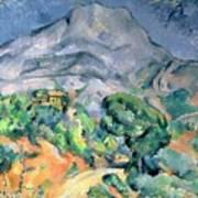 Mont Sainte Victoire Print by Paul Cezanne