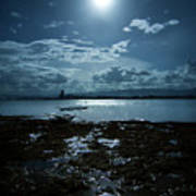 Moonlight Print by Rodell Ibona Basalo