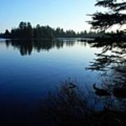 Morning On Chad Lake Print by Larry Ricker
