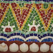 Mosaic Fountain Pattern Detail 4 Print by Teresa Mucha