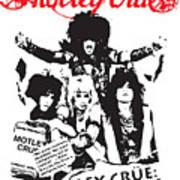 Motley Crue No.01 Print by Caio Caldas