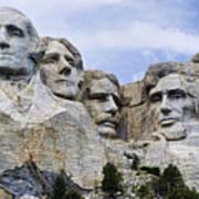 Mount Rushmore National Monument Print by Jon Berghoff