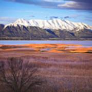 Mt. Timpanogos And Utah Lake Print by Utah Images