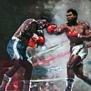 Muhammad Ali And Joe Frazier Print by Ylli Haruni